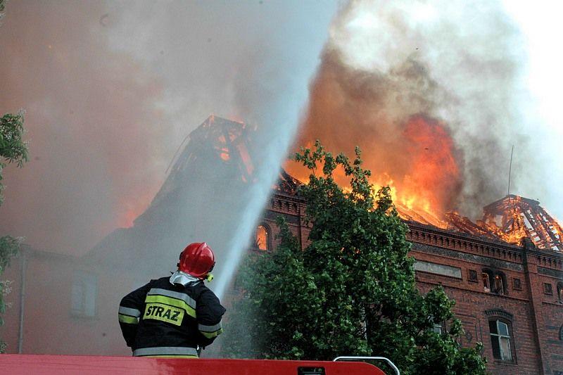 Pożar kościoła św. Katarzyny